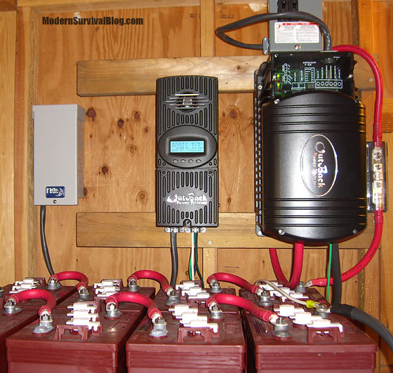off-grid-solar-controller-batteries-inverter
