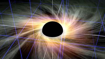 black-hole-projects-gravitational-plane-from-center-of-galaxy