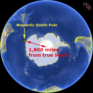 earth-magnetic-south-1,800-miles-from-true-south-pole
