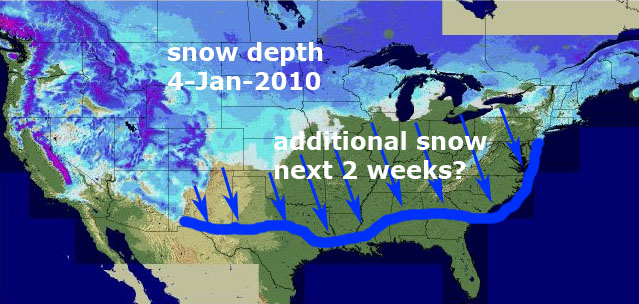 usa-snow-depth-map-4-jan-2011. Global temperatures tend to respond to the