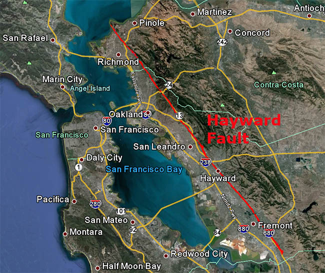 hayward-fault-map