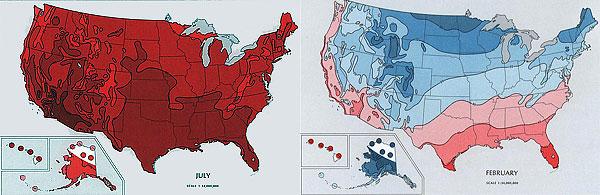 map-of-maximum-minimum-temperatures-united-states