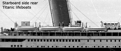 Picture of lifeboats on the Titanic