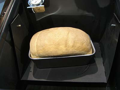 cook bread in a solar oven
