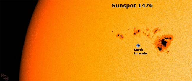 Mammoth Sunspot Threatens Earth – 5/10/12