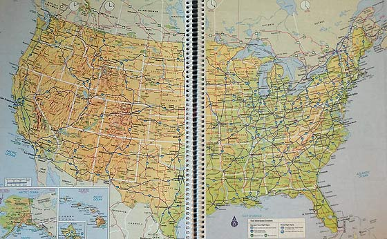 Road Atlas Map For Each State Modern Survival Blog - Usa road atlas