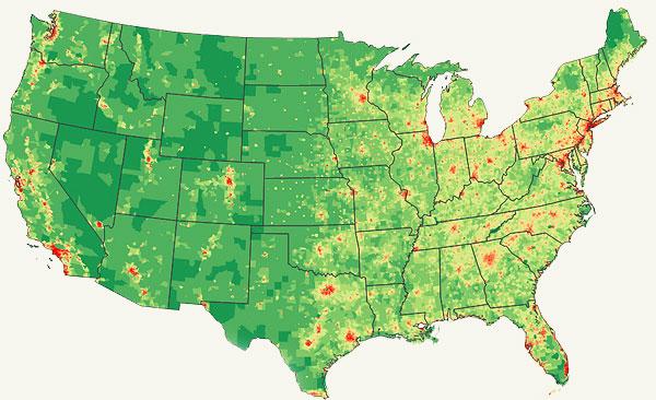 Northeast Population Density Modern Survival Blog - Us population concentration map