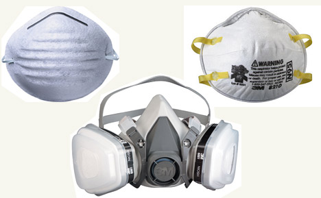 Dust mask, N95 mask, or Respirator mask