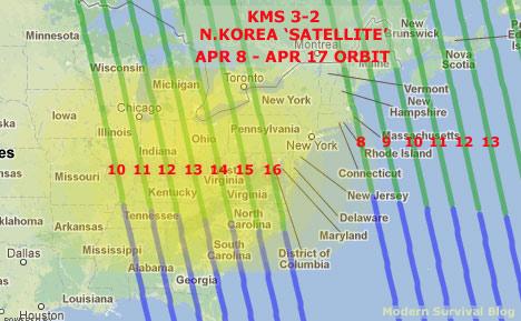 North Korea Satellite Orbit