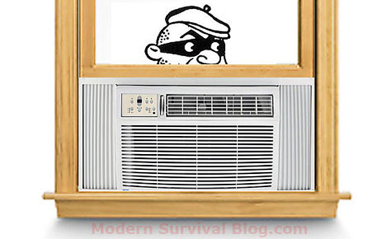 Burglar Entry Through 1st Floor Window Air Conditioner