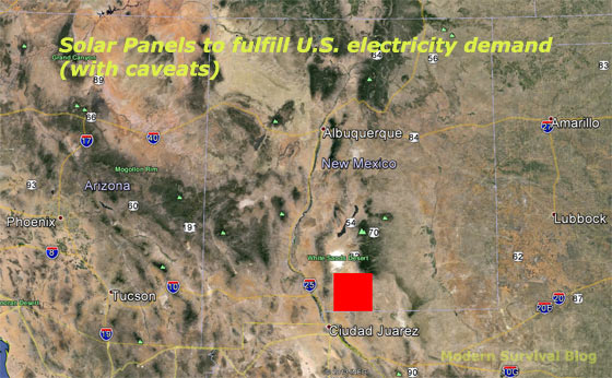 Amazing Map Total Solar Panels To Power The United States - Solar panel us map