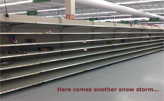 Snow Storm And Another Run On The Grocery Stores