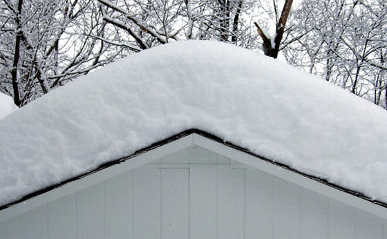 Roof weight is your roof deck strong enough to handle for Snow loads on roofs