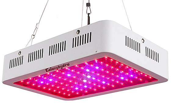 led grow lights are made up of diodes and are over other methods of plant lights because they consume much less electricity and