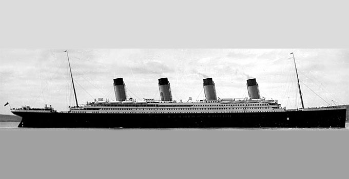 The Titanic and 20 lifeboats
