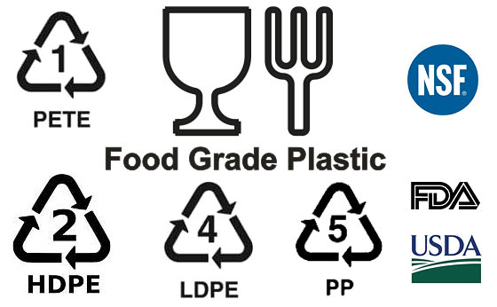 Food Grade Plastic (Safe For Containers, Bucket Storage, Water)