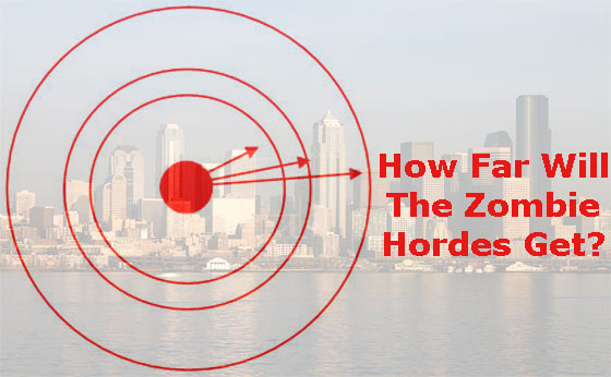 The Zombie Hordes Distance From Cities