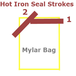 seal-mylar-bag-with-two-seams-using-hot-iron