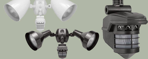 floodlight pir sensor motion led le camera daylight white light with security dw waterproof