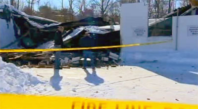 roof-collapse-vernon-ct-car-dealership