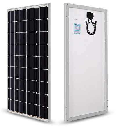 100 watt, 12 volt solar panel from Renogy