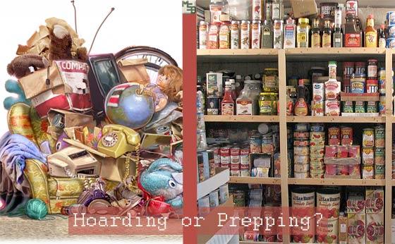 Hoarding versus Prepping