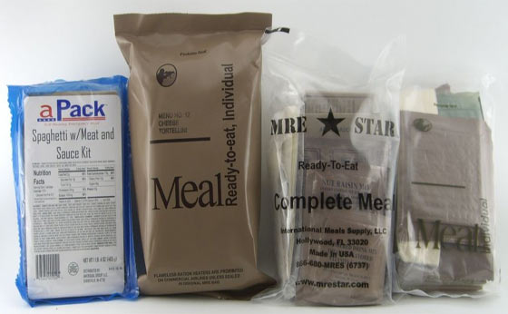 MRE Meals for Food Storage & Survival Kit