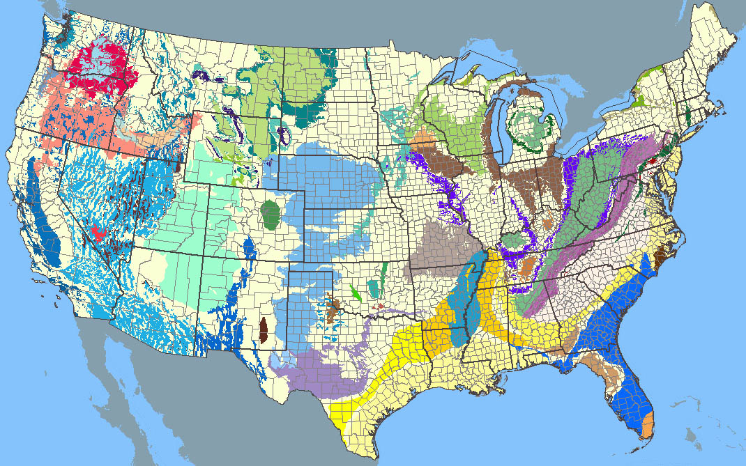 United States Aquifer Locations