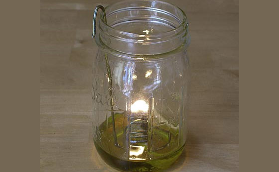 Do-It-Yourself Olive Oil Lamp