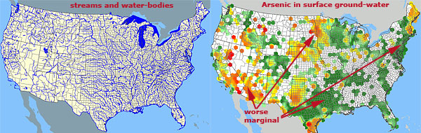 Where Is The Best Place To Live - Bodies of water map us