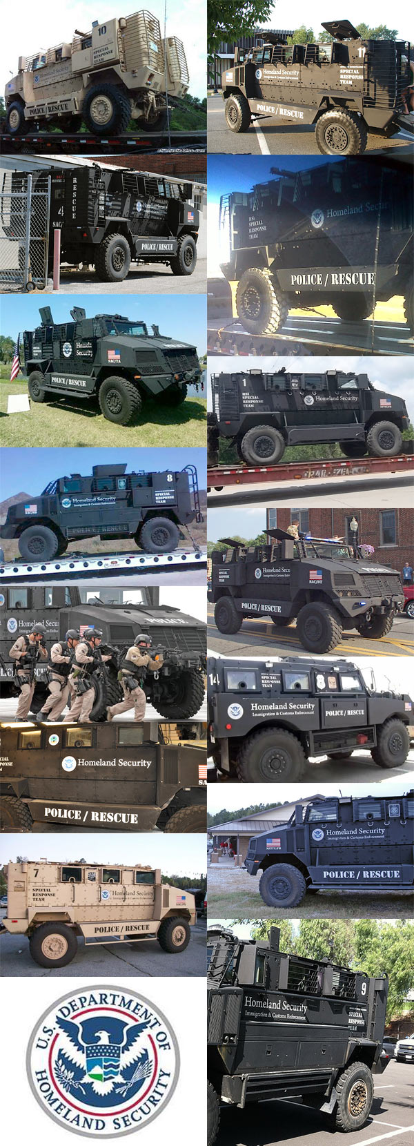 DHS MRAP Armored Vehicles