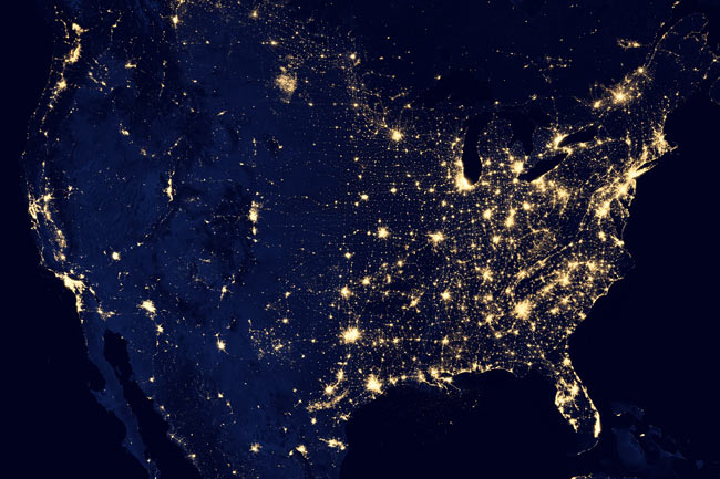 'Black Marble' High Resolution Night Lights of United States