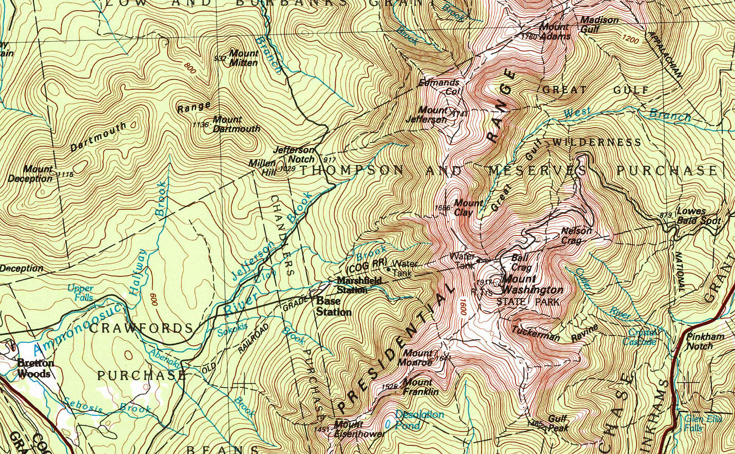 Contour Lines On A Topographic Map