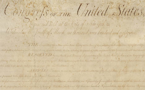 The Bill of Rights – Full Text