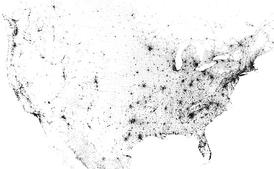High Resolution Population Density 'Dot' Map