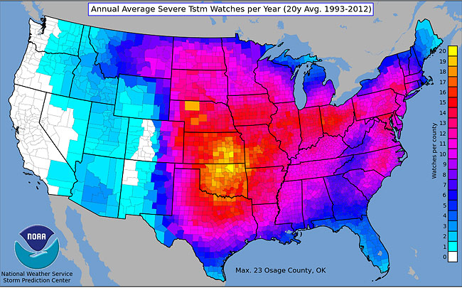 map-of-average-number-severe-thunderstorm-watches-per-year