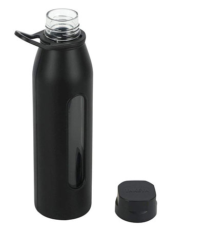 Glass water bottle for drinking water