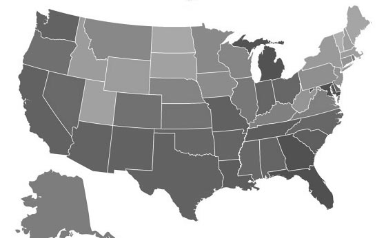 Crime Reports Per 100,000 People, Per State