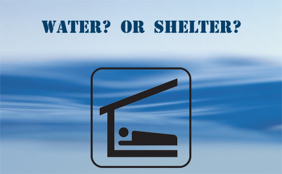 Survival priority - Water or Shelter