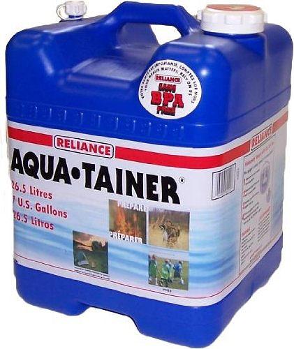 Reliance 7 gallon aqua-tainer with spout, spigot