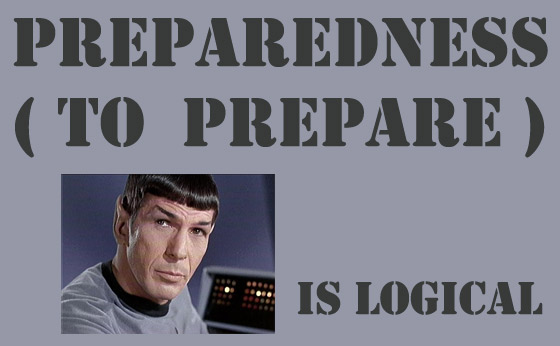 Preparedness is about Backups and Backup Plans