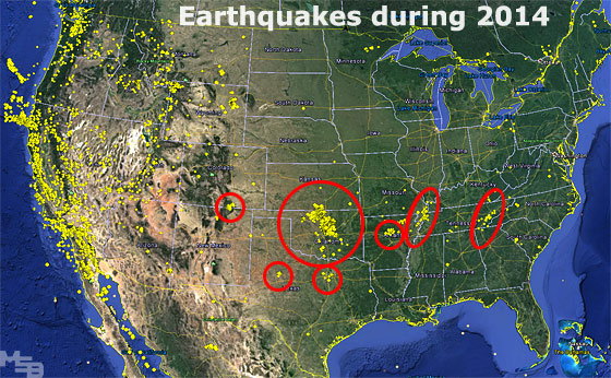 Earthquakes During 2014 In USA