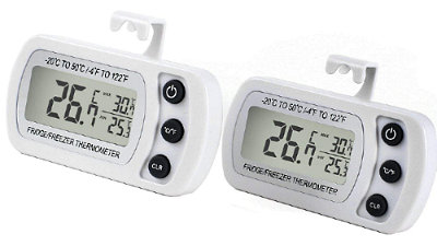 Refrigerator Freezer thermometer with maximum minimum