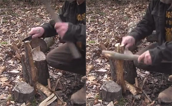 knife for batoning wood