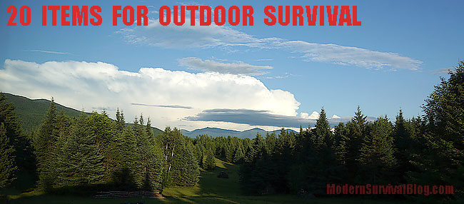 20 Items For Outdoor Survival