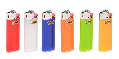 BIC lighter fire starter