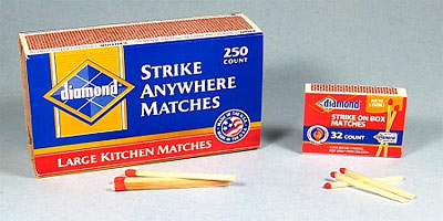 Strike Anywhere matches firestarter