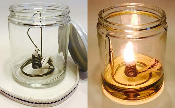 Vegetable Oil Fuel For A Lamp