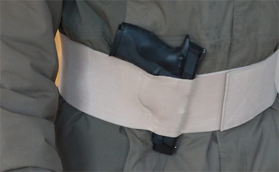 A Belly Band Holster For Concealed Or Outside Carry