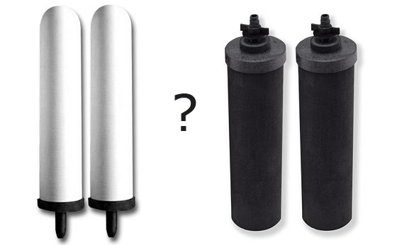 Berkey black vs. white filter elements